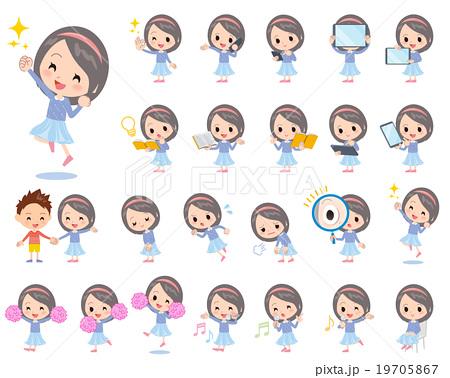 Blue clothes headband girl 2 19705867