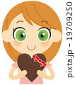 バレンタイン バレンタインデー チョコレートのイラスト 19709250