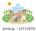 病院と医療スタッフ・介護イメージ(医師・ナース・患者) 19713656