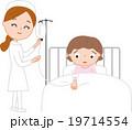 子供の怪我・病気 入院 点滴 19714554
