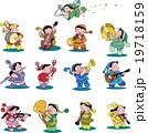 音楽 妖精 演奏のイラスト 19718159