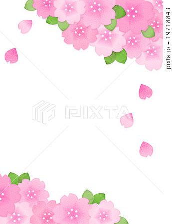 綺麗かわいい桜のイラスト素材コピースペース縦長 透過png白背景
