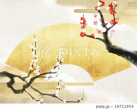 和の背景-和紙-梅のイラスト素材 [19721954] - PIXTA