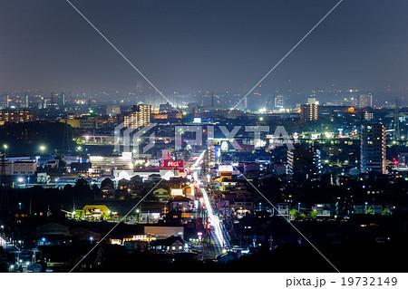 豊田市の夜景の写真素材 [197321...