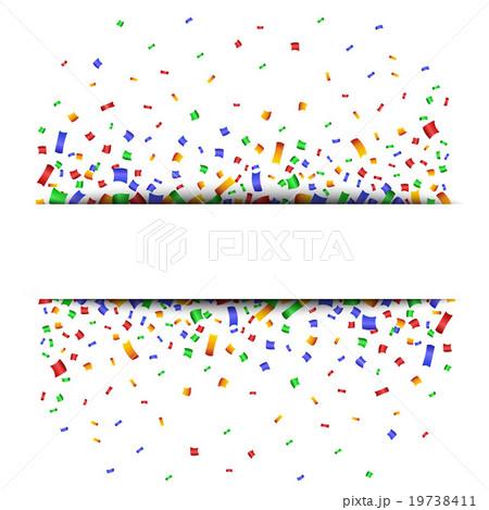 Colorful celebration background with confetti. のイラスト素材 [19738411] - PIXTA