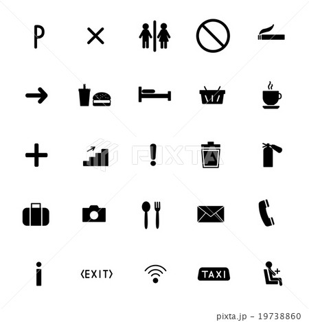 set of vector icons flat line. public sing 19738860