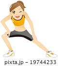 フィットネス 運動 トレーニングのイラスト 19744233