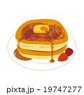 パンケーキ ホットケーキ スイーツのイラスト 19747277