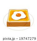 目玉焼きトースト 19747279