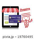 タブレット ショッピング クレジットカードのイラスト 19760495