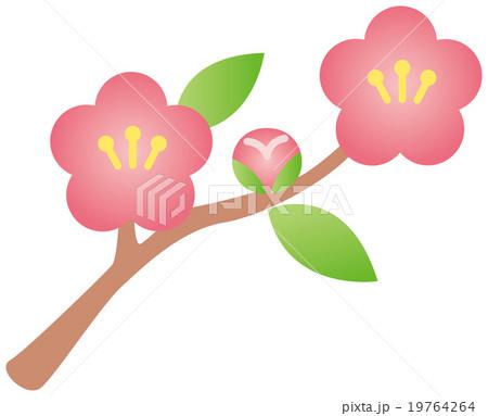 桃の花のイラスト素材 19764264 Pixta