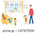 幸せな家族のイラスト  19767836