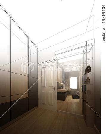 abstract sketch design of interior walk-in closetのイラスト素材 [19769104] - PIXTA