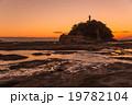 和歌山県 夕景の天神崎 19782104