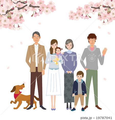 桜 家族 イラスト 19787041