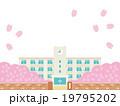 桜の舞う春の校舎バリエーションD 19795202