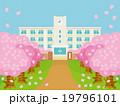 桜並木と春の校舎バリエーションD 19796101