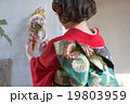 Furisode (kimono with long, trailing sleeves) 19803959