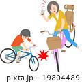 自転車 スマホ 交通事故のイラスト 19804489