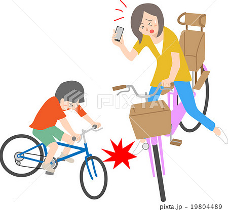 自転車の運転マナー 19804489
