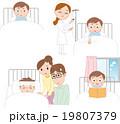 病気 入院 子供のイラスト 19807379