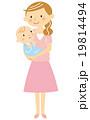 赤ちゃん 抱っこ 笑顔のイラスト 19814494