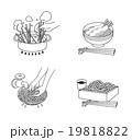 麺類 麺 調理例のイラスト 19818822