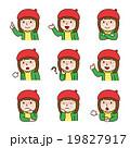表情_ベレー帽の女の子 19827917