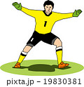 サッカーのゴールキーパー 19830381