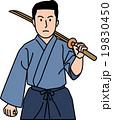 剣道着を着て木刀を持つ30代男性 19830450