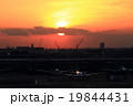 空港 羽田空港 夕日の写真 19844431