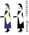 女学生 袴 卒業証書のイラスト 19844529