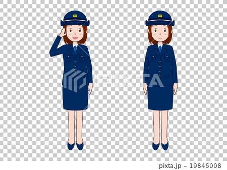 女性警察官のイラスト 19846008