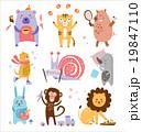 動物 うさぎ バニーのイラスト 19847110