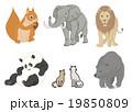 動物セットのイラスト 19850809