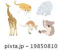 動物セットのイラスト 19850810