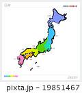地図 都道府県 日本地図のイラスト 19851467
