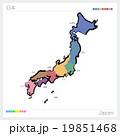 地図 都道府県 日本地図のイラスト 19851468