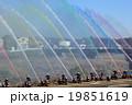出初式の一斉放水 19851619