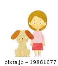 女の子と犬 19861677