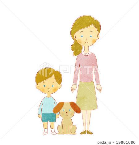 母と息子と犬 19861680