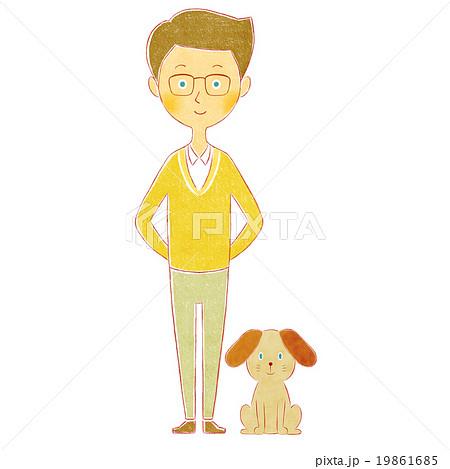 男性と犬 19861685