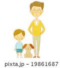 父と息子と犬 19861687