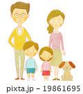 親子と犬 19861695