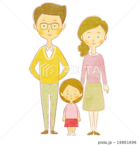 親子 父と母と娘 19861696