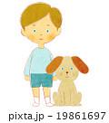 男の子と犬 19861697