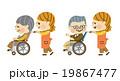 介護 介護士 車椅子のイラスト 19867477