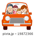 ドライブ 車 家族のイラスト 19872366