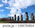 モアイ像 像 遺跡の写真 19876864