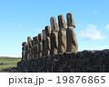 モアイ像 像 遺跡の写真 19876865